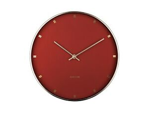 "Karlsson ""PETITE"" Wall Clock Clay Brown / Gold (27cm KA5776BR)"