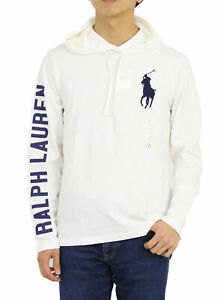 Polo Ralph Lauren LS Long Sleeve Hooded Big Pony T-Shirts -- 5 colors