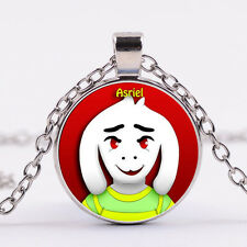 UNDERTALE Cabochon Silver Glass Chain Pendant Necklace child gift  DD   450