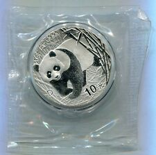 China 2001 1oz Silver Panda Coin with D Mark