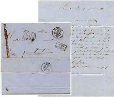 France 1859 apres le depart lorient lettre Dufilhol estampé