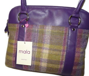RRP £69.50!! shoulder bag abertweed by mala leather 719 40 NEW leather gift