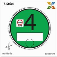 ** 5 x Trägerfolie / Haftfolie für Vignette Feinstaubplakette Umweltplakette **