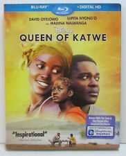 Disney's Queen of Katwe Blu-ray with slipcover, NEW! No digital copy