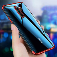 Plating Silicone Clear Soft Case Cover For Xiaomi Redmi 7 7A 6A Note 8 7 6 5 Pro
