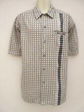 Rip Curl - Mens Cream / Black  Classic Short Sleeved Casual Shirt - size XL
