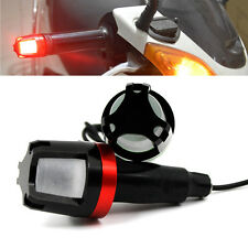 2x Red 12V LED Handlebar End Plug Turn Signal Light Marker For Motorcycle Bike