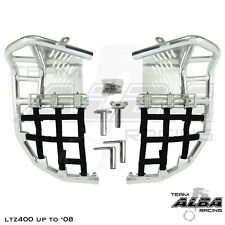 ltz 400 KFX 400 DVX 400  Nerf Bars  Pro Peg  Alba Racing  silver black 206 T7 SB