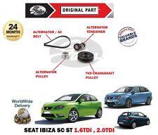 Für Seat Ibiza Sc st 1.6 2.0 Tdi Lichtmaschine Keilriemen +Spanner+ Tvd + Rolle