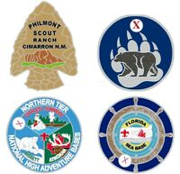 Scouting High Adventure 4-Pathtag Set: Philmont, SeaBase, Northern Tier, SBR