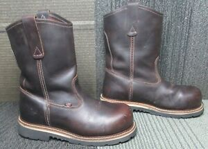 """Mens Thorogood Emperor Toe 11"""" Briar Pitstop Safety Toe Work Boot 9.5 D"""