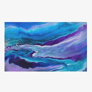 Dreamy Rug Colorful Rug Blue Floor Rug Blue Mat ocean rug psychadelic rugs