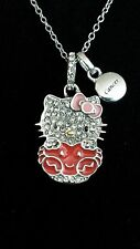 HELLO KITTY ZODIAC CANCER RED CRAB ENAMEL STERLING SILVER NECKLACE $350