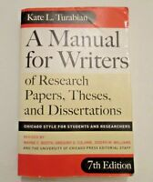 A Manual for Writers of Research Papers Theses and Dissertations Paperback