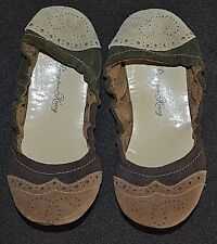 PENNY loves KENNY- MULTI-COLORED SUEDE BALLET FLATS- SZ 8M- NEW