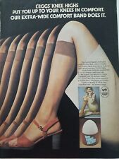 1976 womens LEGGS knee high  sock stockings hosiery vintage fashion ad