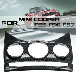Carbon Fiber Style Center Dashboad Console Cover For BMW MINI Cooper F55 F56 F57
