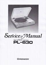 Service Manual-Anleitung für Pioneer PL-630