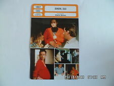 CARTE FICHE CINEMA 1997 SINON OUI Catherine Mendez Emmanuel Clarke Lou Castel