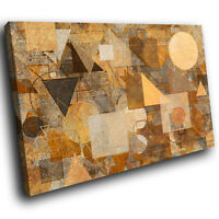 AB1773 Retro Brown Funky Modern Abstract Canvas Wall Art Large Picture Prints