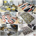 COCKTAIL GEOMETRIC MULTI COLOURS GREY OCHRE PINK SMALL LARGE SOFT RUG