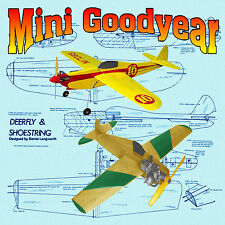 Two Model Airplane Plans Colntrol line Mini Goodear Racer .049-.09 Fun Flyer