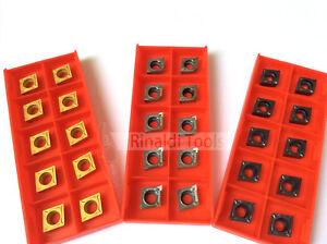10 x CCGT / CCMT Wendeschneidplatten für ALU, Stahl oder Edelstahlbearbeitung!!
