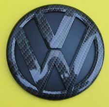 VW Transporter T5 Caddy bagagliaio posteriore/Boot PORTA BADGE EMBLEMA in fibra di carbonio 130 mm
