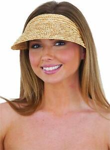 Jacobson Straw Hat - Slip On Braid Visor,Tan,Adult