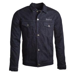 Bull-It Homme Tracker 17 SR6 Jeans Moto Veste Bleu Foncé
