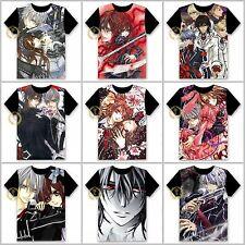 Anime Vampire Knight Yuki/Zero Unisex T-shirt HD Printing Cosplay Tee#55-H27
