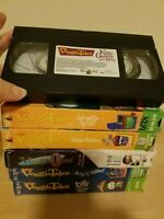 Veggie Tales Lot 6 VHS Madame Blueberry Josh and Big Wall Toy Saved Christmas