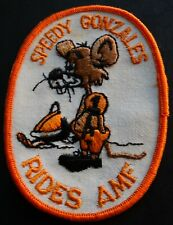 Vintage Amf Snowmobile Patch Speedy Gonzalez Rides Amf New
