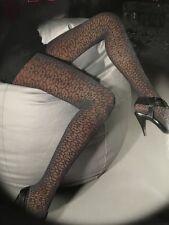 Miss Sixty Tights Petrol Gray NIP Louisiana Italian Lace Tights Medium M New