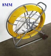 Fish Tape Fiberglass Wire Cable Running Rod Duct Rodder Fishtape Puller 8MM