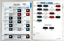 1996 ISUZU PPG AND DUPONT  COLOR PAINT CHIP CHART ALL MODELS
