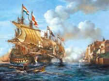 Puzzle Castorland 2000 Battle of Porto Bello 1739 Schiff Schlacht C-200245