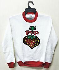 Vintage 70s Pop Strawberry Sweatshirt Michael Jackson Sex Pistols Punk Glam Rock