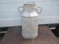 Ancien bidon de Lait  pot aluminium  déco ferme montagne chalet creme savoie 4
