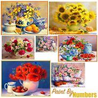 Fruit Flowers Art Designs Paint By Numbers Oil Painting DIY Canvas Kit 50 x 40cm