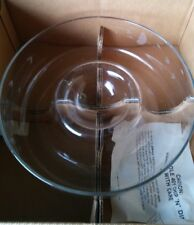 PRINCESS HOUSE ETCHED GLASS CHIP & DIP BOWL, EXCELLENT USED CONDITION!