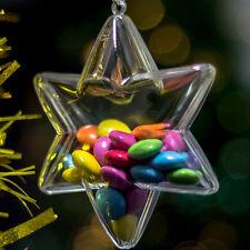 x 100 Plástico Transparente En Forma De Estrella Decoración De Navidad 100mm