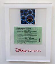 Disney Synergy Coupon,Disneyland E Ticket framed Under glass. Mint, RARE!