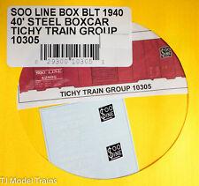 Tichy Train Group #10305 SOO LINE Box Blt 1940 40' Steel Box (Decal) Water Slide