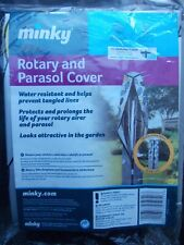 Minky Deluxe Outdoor Rotary Washing Line Airer Dryer Parasol Cover - Grey