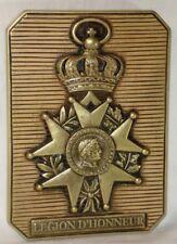 Bas relief Plaque Légion d'Honneur en pierre patinée  - décoration Empire