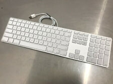 Apple A1243 USB Wired Aluminum Keyboard + Numeric Keypad MB110LL/A Slim Aluminum