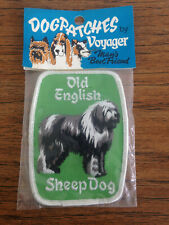 Old English Sheep Dog Patch-Sealed by Voyager-Free Shipping-Stocking Stuffers