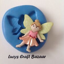 Silicone Mould Fairy 3 Cupcake Topper Sugar raft Fimo Sculpey Flowerpaste Soap