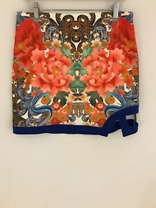 Womens Mink Pink Floral Imari Skirt / Size Medium / BNWT
